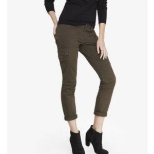 EXPRESS Cotton Army Green Skinny Cargo Jeans